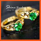 Emerald Hoop Fashion Earrings