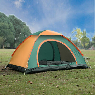 3-4 Man Person Family Pop Up Tent Camping Festival Waterproof Auto Sun Shelter