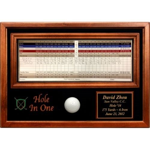 Fully Engraved Golf Hole in One Commemorative Award Customized Display