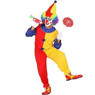 Herrenkostüm Clownkostüm Gr. L 50/52 Narr Harlekin Kostüm Clown - Harlekin Narr Clown Kostüm
