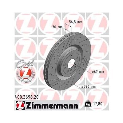 2x Bremsscheibe Bremse NEU ZIMMERMANN (400.3698.20)