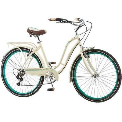 "26"" Inch Womens Cruiser Bike Rack Adult Bicycle Outdoor Ride Steel Frame Cream"