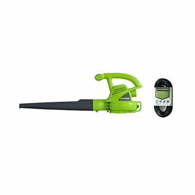 Greenworks 7 Amp Single Speed Electric Leaf Blower, 160 MPH