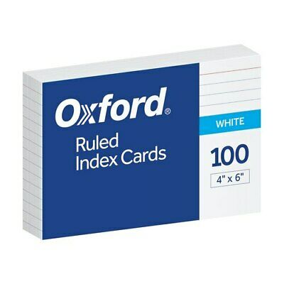 Oxf40141 Oxford Ruled Index Cards 4 X 6 White 100 Per Pack