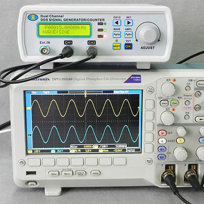 New Digital DDS Dual-channel Signal Generator Source Frequency Meter 25MHz In US