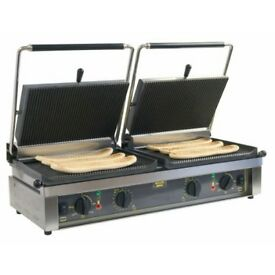 BBQ PANINI GRILL 2 x 1.8kw ( Grilling Area 475 x 230 mm )