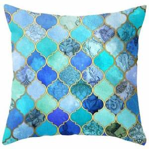 NEW 4 x Moroccan Mosaic Tile Cushion Cover Pillow Home Decor Atwell Cockburn Area Preview