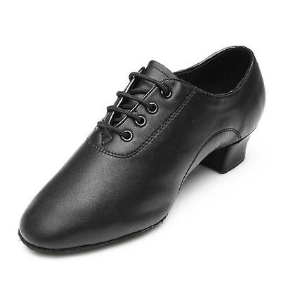 New Adult Mens Ballroom Latin Tango Waltz Dance Shoes Heeled Leather Durable
