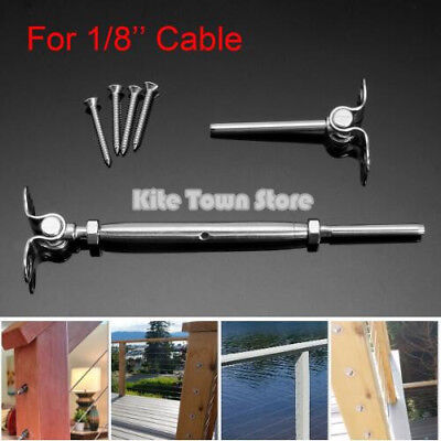 T316 Stainless Steel Deck Toggle Tensioner Set For Cable Railing- 18 Cable