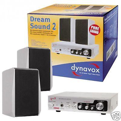 Dynavox Sueño Sonido II - Altavoz Amplificador Juego en Plata Dreamsound