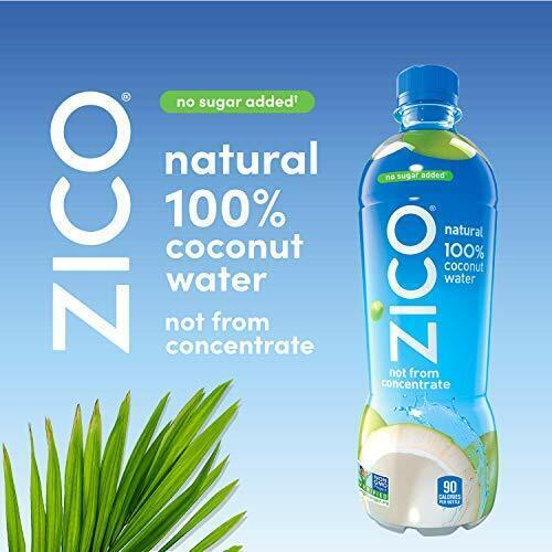 ZICO Natural 100% Coconut Water Drink, No Sugar Added Gluten Free,