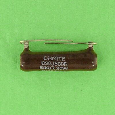 500 Ohm 20w 5 Wirewound Axial Lead Power Resistor Ceramic Body Wire Wound Ww