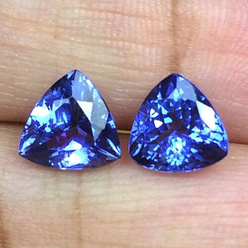 Top  Color Natural 6mm Blue Tanzanite Pair  Loose Gemstone Tanzania