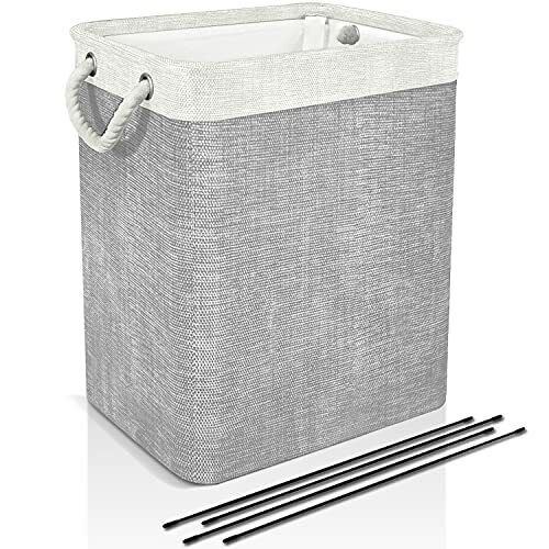 Laundry Basket with Handles & Brackets 65L/78L Small/Large/Tall Hamper Grey