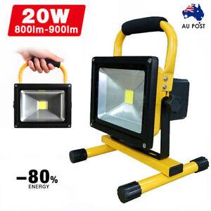 20W Portable Flood Spot Work Light Caravan LED Rechargeable Camping Fishing Lamp
