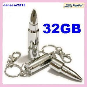 PEN-DRIVE-PENDRIVE-DE-UNA-BALA-PLATEADA-32GB-32-GB-MEMORIA-USB-4-8-16-64-PLATA