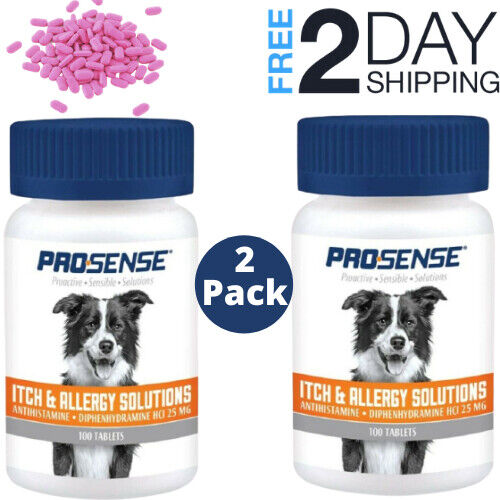 itch allergy dog supplement relief tablets Chewable Tablets 2 Pack 100 count