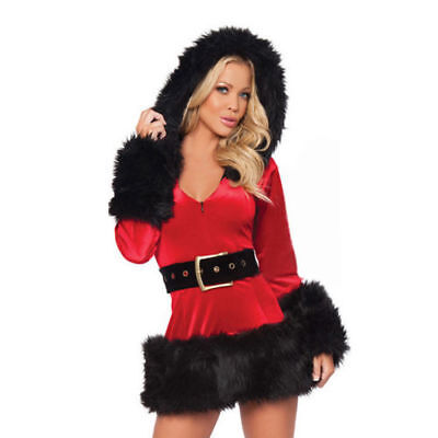 Women's Christmas Santa Claus Clubwear Outfit Sexy Dress Costume