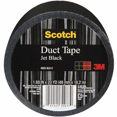 Scotch Duct Tape, Jet Black, 1.88-Inch by 20-Yard - 920-BLK-C