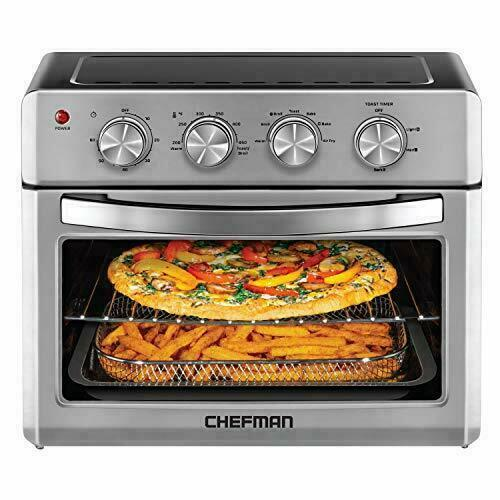 Air Fryer Chefman Toaster Oven, 6 Slice, 25 LT Convection Ai