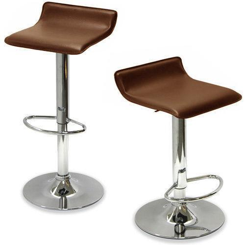 Brown Leather Bar Stools Ebay