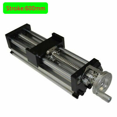 New 600mm 24in Manual Sliding Table Sfu1605 Ballscrew Linear Stage Actuator