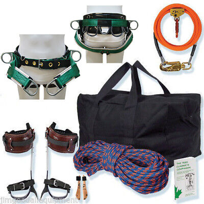 Arborist Basic Spur Kit Wsaddle 12 Flipline Kit 150 Rope Spikes Gearbag