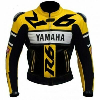 YAMAHA R6  MOTORBIKE LEATHER JACKET CE APPROVED FULL PROTECTION