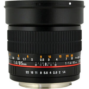 Rokinon 85mm f/1.4 AS IF UMC Lens for Canon EF