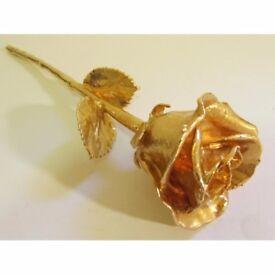 24 Karat Gold Plated Rose - Brand New - Kilmarnock Area