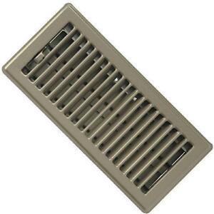 """( Pack Of 10 ) RG0229 Standard Floor Registers - Louvered Design - Steel - Beige Painted - 4""""x 10"""" Floor Register"""