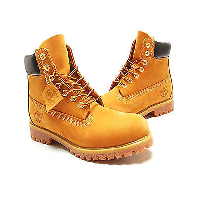 Timberland Men's Boot 6 Inch Premium 10061 12909 Wheat Nubuck