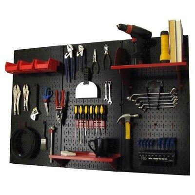 Pegboard Tool Storage System Kit Peg Accessories Metal 32x48in Garage Organizer