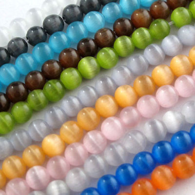 Wholesale Round Cats Eye Loose Beads Crafts Jewelry Finding Diy  4 6 8 10Mm