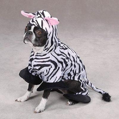 Zack & Zoey ZEBRA Dog Puppy Costume Halloween Black & White Stripe Size:XSmall - Zebra Hunde Kostüm