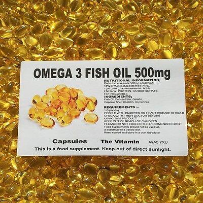 Los Vitamina Omega 3 Aceite de Pescado 500mg 365 Cápsulas - Embolsado