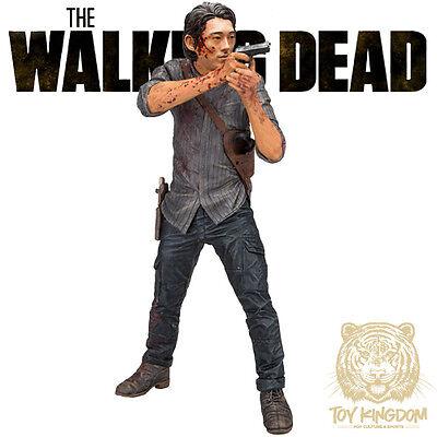 """LEGACY GLENN RHEE McFarlane Walking Dead TV DELUXE (Bloody) 10"""" Figure IN STOCK"""