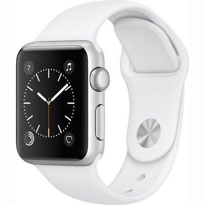 Apple Watch Gen2 Series 1 38mm Silver Aluminum Case White Sport Band MNNG2LL/A