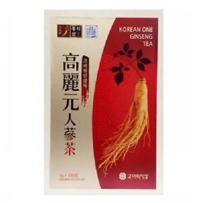 Korean One Ginseng Tea Extract Health 3g x 100T Wooden Box