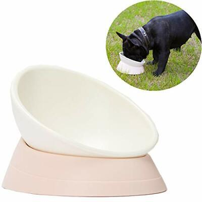 JWPC Bulldog Bowl Anti-Slip Dog Cat Dish Detachable Rubber Dog Bowl Pet White - $22.55