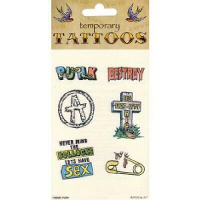 Tattoos Theme Punk (6/card) costume Fancy Dress (Punk Themen Kostüm)