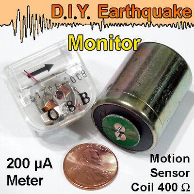 Sensitive Geophone Seismic Sensor Meter Set Make A Ground Shaking Detector.