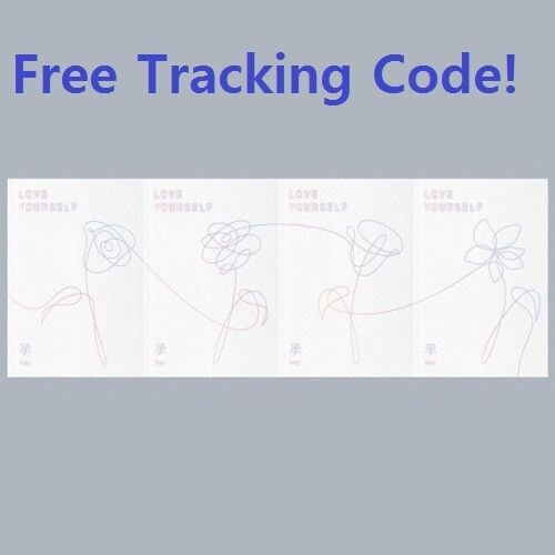 BTS[Love Yourself 承 'HER']5th Mini Album 4 Ver SET CD+1Poster+Book+Gift+Tracking