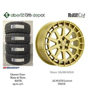 OPEN 7 DAYS LOWEST PRICE Save Up To 10% Black Rhino BOXER Gold. Alberta Tire Depot