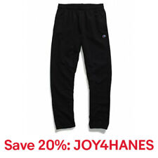 Champion Mens Fleece Sweatpants Powerblend Sweats Relaxed Bottom Pockets Elastic