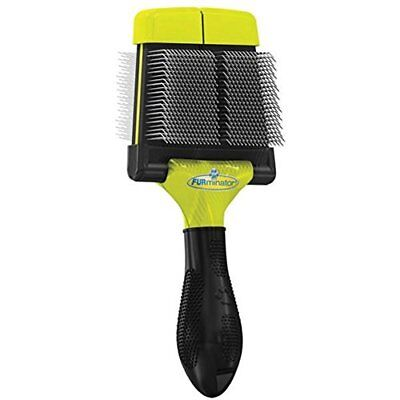 Used, NIB Furminator Soft Grooming Large Slicker Brush for Dogs Small or Large Step 1 for sale  Oldfort