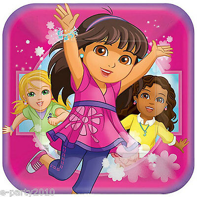 DORA THE EXPLORER AND FRIENDS LARGE PAPER PLATES (8) ~ Birthday Party Supplies