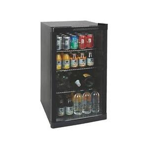 Under Counter Drinks Display Chiller Cooler Fridge Shop Glass Door 88L M195418