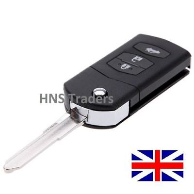 3 Button for MAZDA 2 3 5 6 RX8 MX5 FLIP REMOTE KEY FOB CASE WITH BLADE +LOGO A35