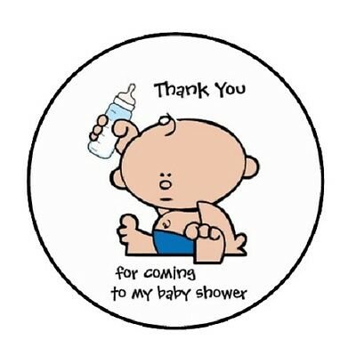 48 Thank You For Coming Baby Shower    Envelope Seals Labels Stickers 1 2  Round